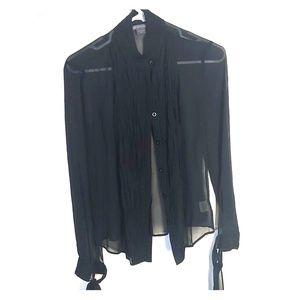 Armani sheer dress shirt